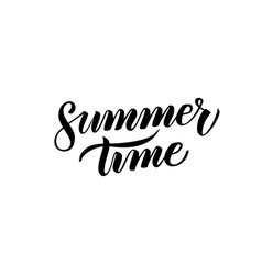 summer time handwritten calligraphy vector image vector image