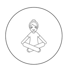 yoga icon of for web and vector image