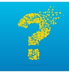 Abstract creative concept icon of question vector