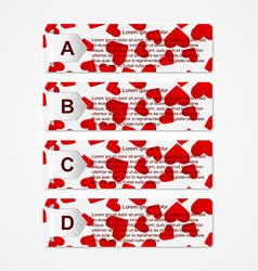 Abstract paper infographic vector image