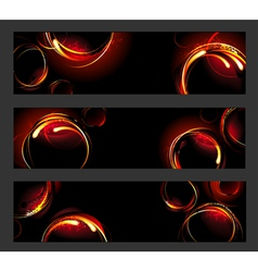 Banner with fire circles vector
