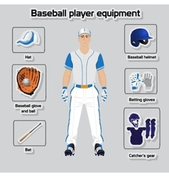 Baseball player uniform and equipment vector