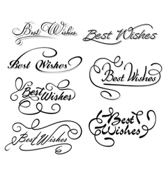 Best wishes calligraphic elements vector image vector image