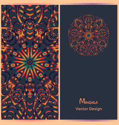 brochure templates with ethnic pattern business vector image vector image