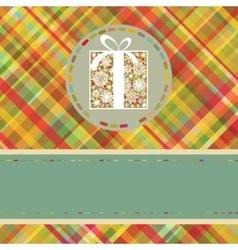 Christmas tartan background EPS 8 vector image vector image