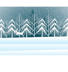 Holiday winter landscape background with winter tr vector image vector image