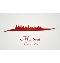 Montreal skyline in red vector image vector image