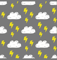 clouds lightning pattern vector image vector image