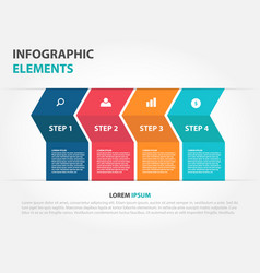 colorful arrow business infographics elements vector image