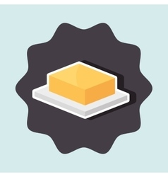 delicious butter isolated icon design vector image vector image