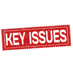 key issues sign or stamp vector image