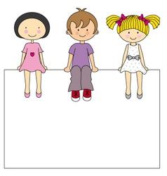 kids frame vector image