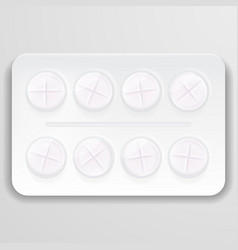 pill in blister pack isolated on a background vector image vector image