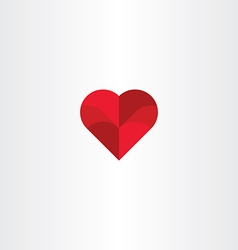 red heart background love icon vector image vector image
