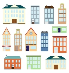 Set of houses vector image vector image