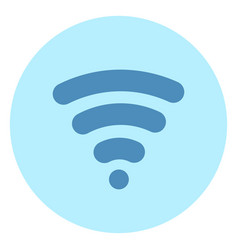 wifi icon wireless internet connection on blue vector image vector image