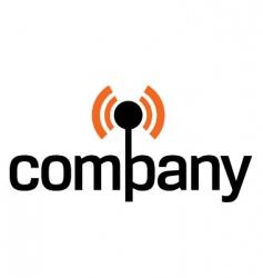 wireless technology logo vector image vector image
