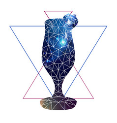 Abstract polygonal tirangle cocktail with open vector