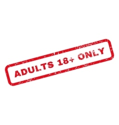 Adults 18 Plus Only Text Rubber Stamp vector image