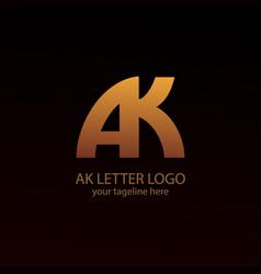 Ak letter logo image vector