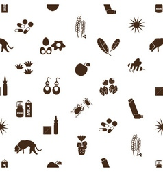 Allergy and allergens icons seamless pattern eps10 vector