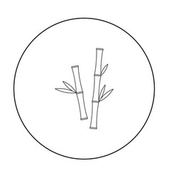 Bamboo icon of for web and vector