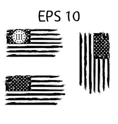 Betsy ross 1776 13 stars distressed us flag vector