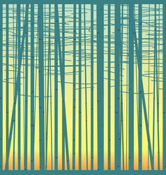 birch grove background against sky vector image