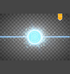 Bitcoin mining conceptual digital vector