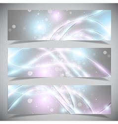 Bright abstract banners collection vector image
