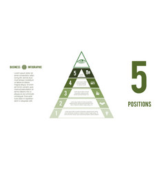 business process infographic template pyramid for vector image