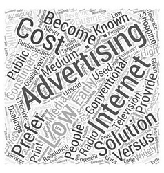 BW low cost internet advertising solution Word vector