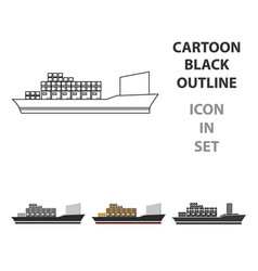 cargo ship icon of for web and vector image