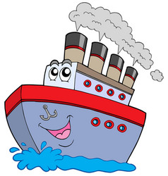 cartoon boat vector image