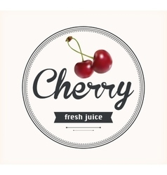 cherry juice Detailed label vector image