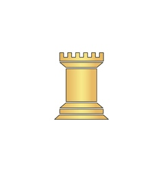 Chess Rook computer symbol vector