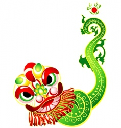 Chinese lion dance card vector