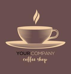 coffee shop logo design template vector image