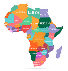 Colorful map africa continent vector