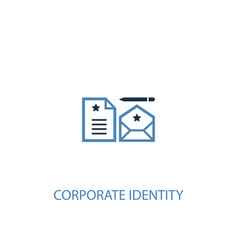 corporate identity concept 2 colored icon simple vector image