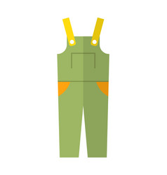 coverall protective clothing flat color icon vector image