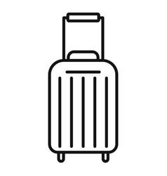 Cruise travel bag icon outline style vector