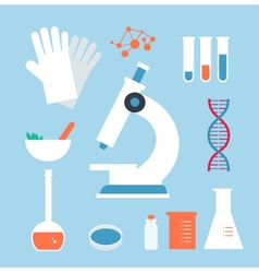 Desktop medical laboratory vector