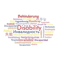 Disability word cloud vector image