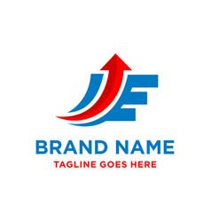 e marketing initials design vector image