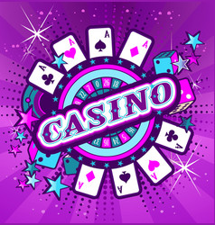 emblem gambling casinos vector image