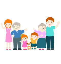 family cartoon character vector image vector image