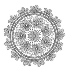 Flower mandala vector