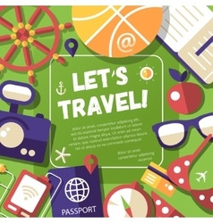 Flyer with modern flat design travel vacation vector