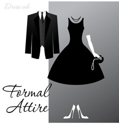 formal attire vector image